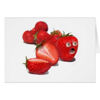 Choque de la fresa tarjeta de felicitación