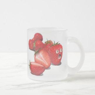 Choque de la fresa tazas de café