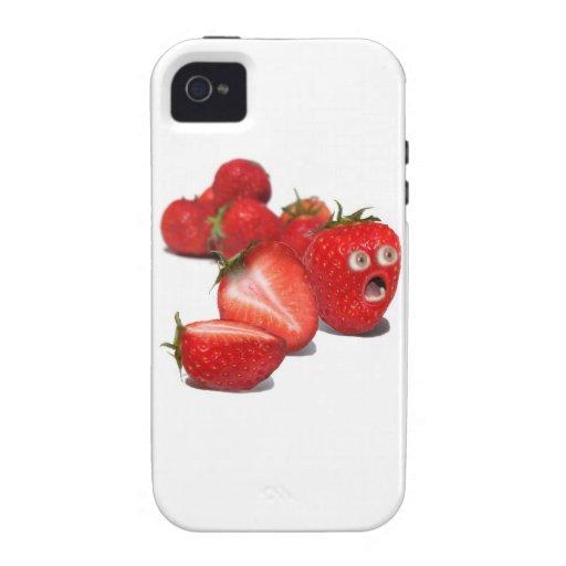 Choque de la fresa vibe iPhone 4 carcasas