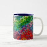 Choque de la teoría del color taza de café