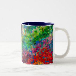 Choque de la teoría del color taza de dos tonos