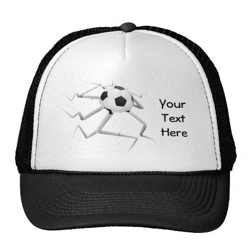 Choque del fútbol (personalizable) gorra