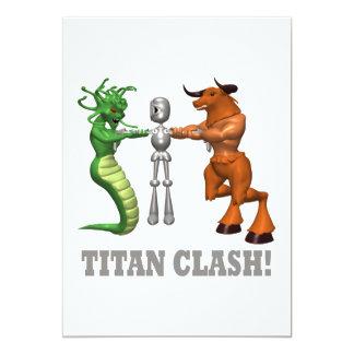 """Choque del titán invitación 5"""" x 7"""""""