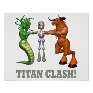 Choque del titán posters
