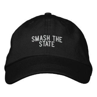 choque el estado gorra bordada