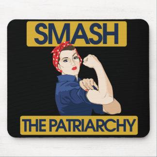 Choque el patriarcado mouse pad