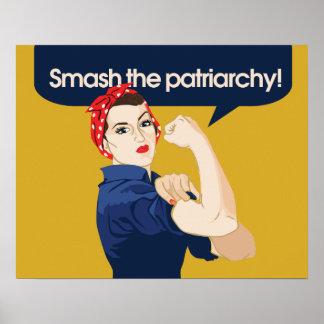 Choque el refrán feminista del patriarcado posters