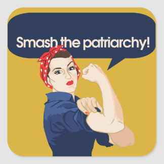 Choque el refrán feminista del patriarcado colcomanias cuadradass