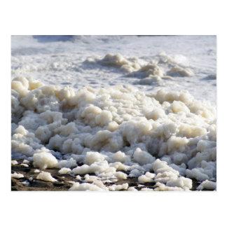 Choque múltiple de la espuma del mar postal
