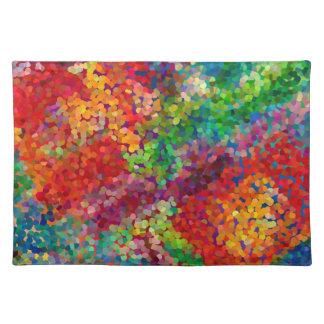 Choque Placemat de la teoría del color Manteles