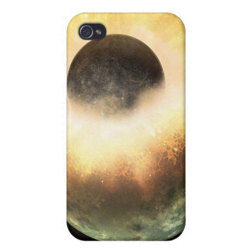Choque planetario para arriba iPhone 4 carcasa