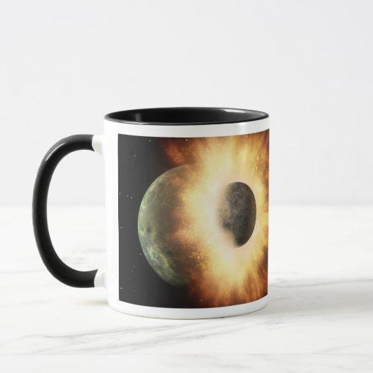 Choque planetario para arriba taza