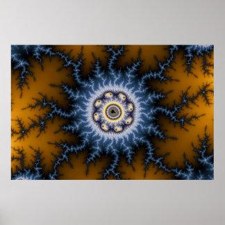 Choque - poster del fractal póster