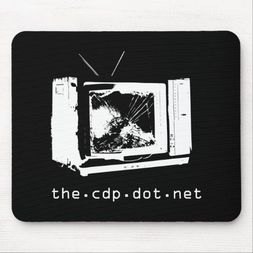 Choque TV Mousepad negro del CDP