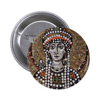 Chor Mosaics At San Vitale In Ravenna, Szene: Empr 2 Inch Round Button