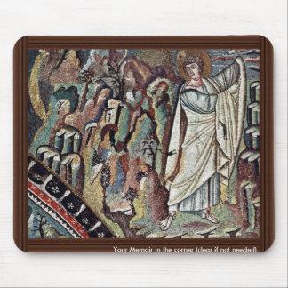 Chor Mosaics At San Vitale In Ravenna, Szene: Mose Mouse Pads