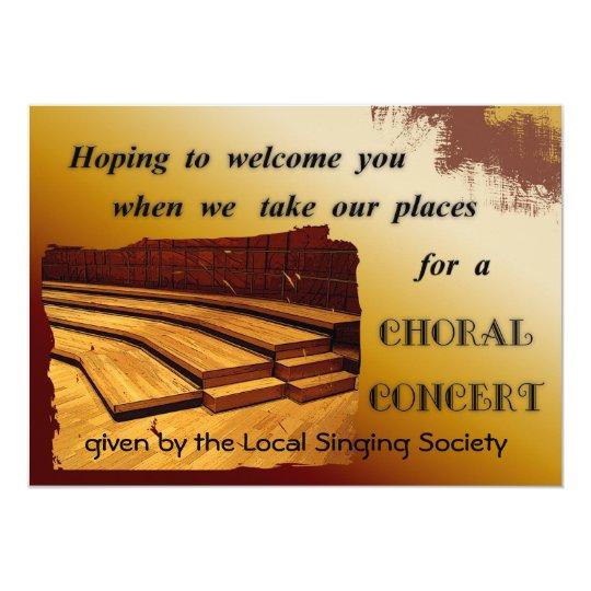 Choral Concert Invitation