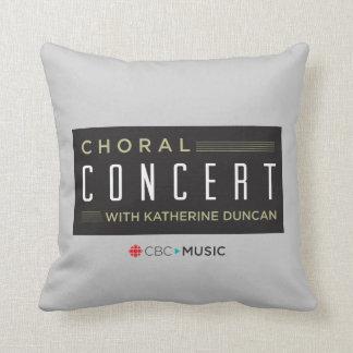 Choral Concert Throw Pillow