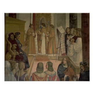 Choral Scene, from the Life of St. Benedict (fresc Poster
