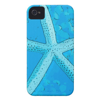 Choral Starfish Blue iPhone 4 Cover