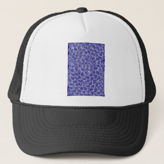 chorale blue mandala trucker hat