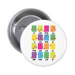 Chord Cheat Tee White 2 Inch Round Button