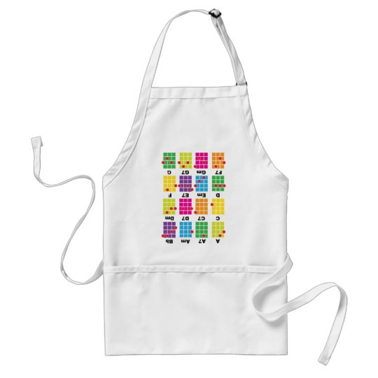 Chord Cheat Tee White Adult Apron