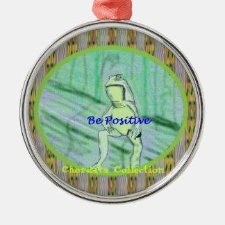 Chordata Collection ~ Frog Mugs Round Metal Christmas Ornament