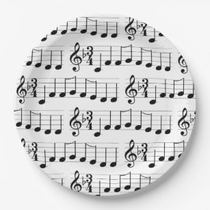 Christmas Music Chords.Christmas Music Plates Zazzle