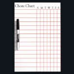 "Chore Chart List Stripes Weekly Dry Erase Board<br><div class=""desc"">This is ruled marking notebook style dry erase board for to-do-list or even list the notes weekly regularly in our house. This board can be used for office daily purpose to note important things regularly on a ruled paper style dry erase board. You can check in my shop collection there...</div>"