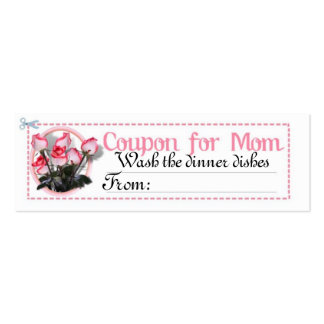 Chore Coupon for Mom Mini Business Card