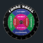 "Chore Wheel Dartboard with Customizable Chores<br><div class=""desc"">You can customize the chores listed on this dartboard to fit the specific needs of your household. Click on CUSTOMIZE IT to adjust text size and position,  etc.</div>"