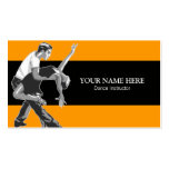 Choreographer Instructor Business Card Template