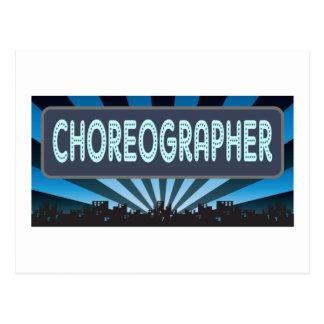 Choreographer Marquee Postcard