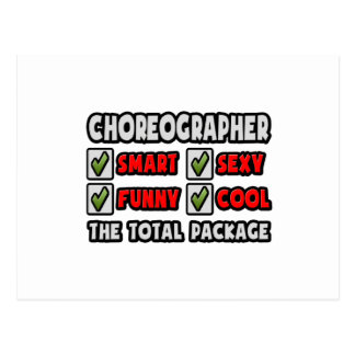 Choreographer ... The Total Package Postcard