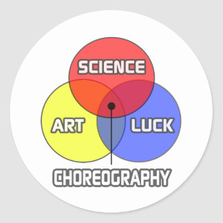 Choreography .. Science Art Luck Round Stickers