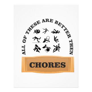 chores are bad letterhead