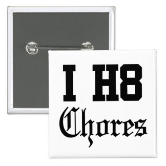 chores pinback buttons