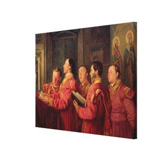 Choristers in the Church, 1870 Canvas Print