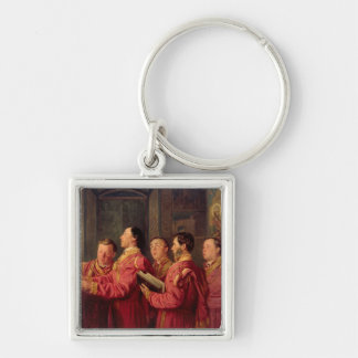 Choristers in the Church, 1870 Keychain