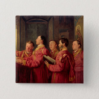 Choristers in the Church, 1870 Pinback Button