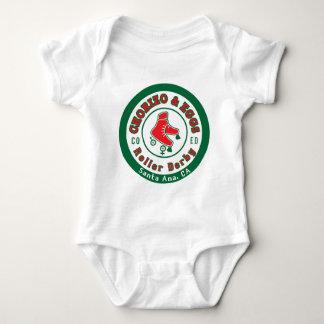 Chorizo & Eggs CoEd Roller Derby on white Baby Bodysuit