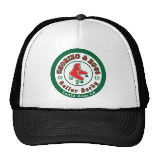 Chorizo & Eggs CoEd Roller Derby on white Trucker Hat