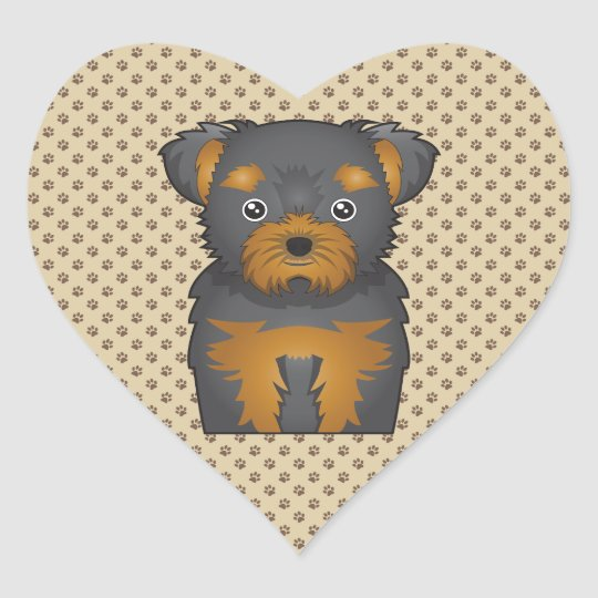 Chorkie Cartoon Heart Sticker