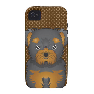 Chorkie Dog Cartoon Paws Case-Mate iPhone 4 Cases