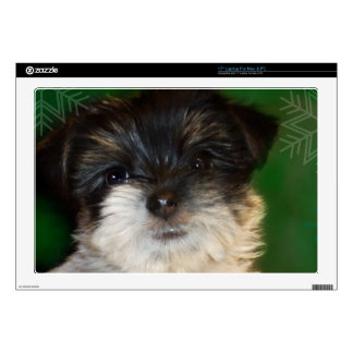 Chorkie puppy decal for laptop