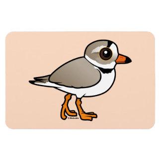 Chorlito aflautado de Birdorable Imanes