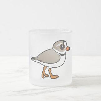 Chorlito aflautado de Birdorable Taza Cristal Mate
