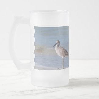 Chorlito de la playa taza cristal mate