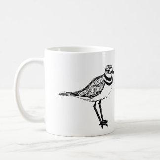 Chorlito de tipo de tero norteamericano taza de café